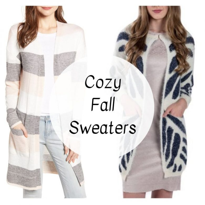 Fall sweaters, cardigans