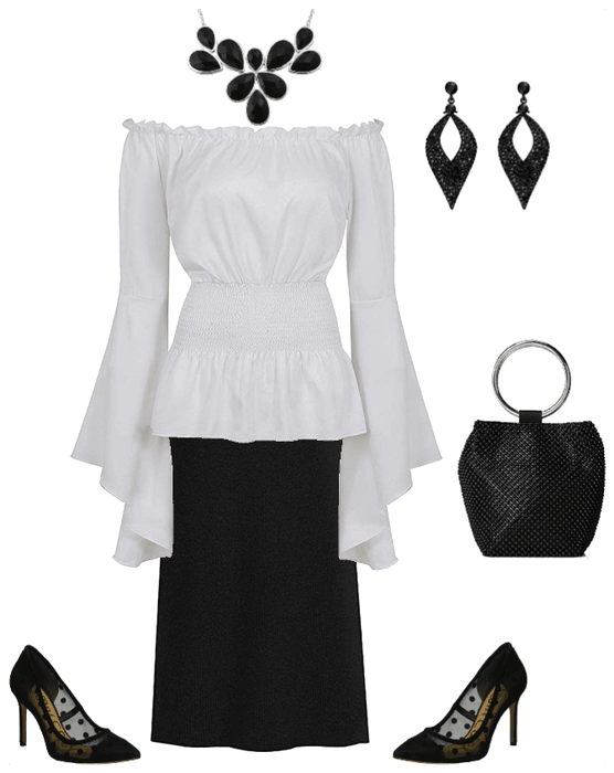 black and white outfit, fashion ideas for women over 40