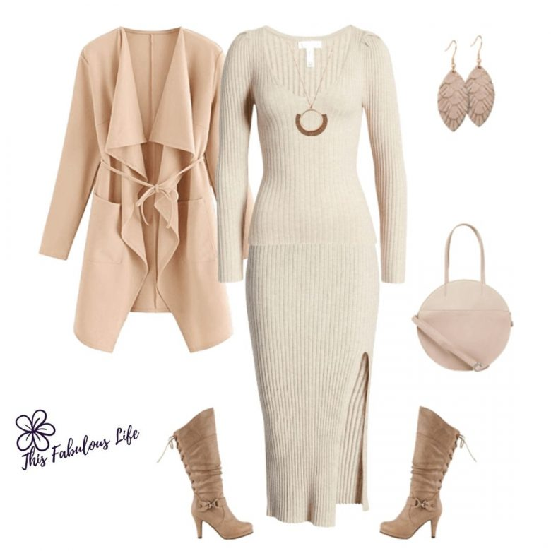 Neutral Outfit for women over 40